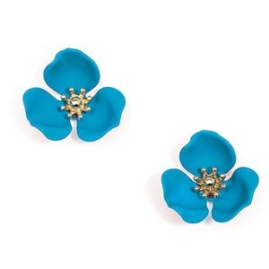 Zenzii Blooming Lotus Flower Stud Earrings